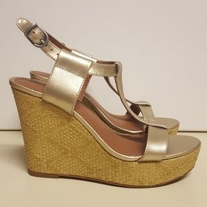 Lucky Brand Gold Wedge